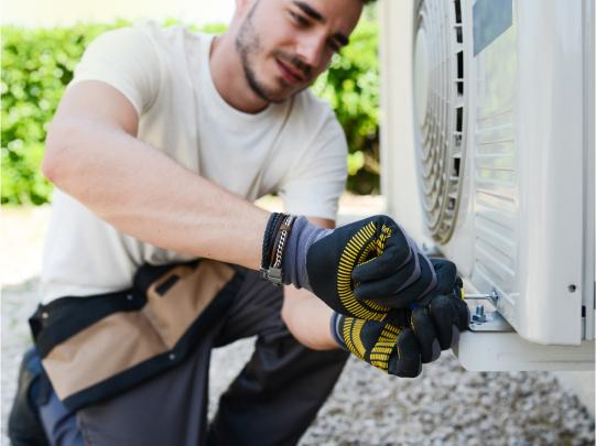 Men Repairing AC